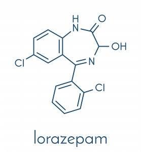 lorazepam fórmula molecular