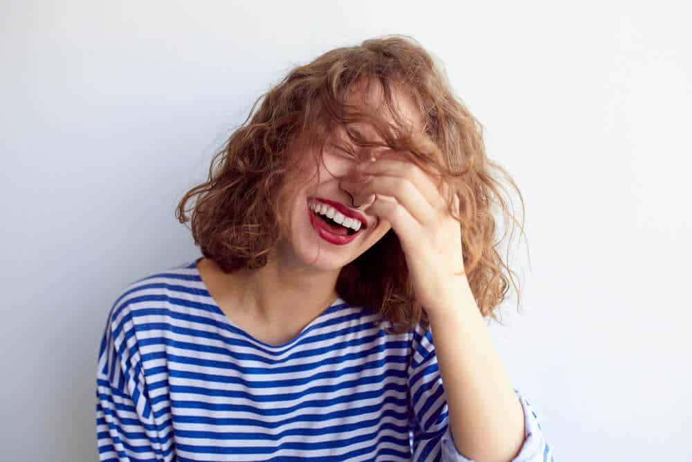 Mujer feliz.