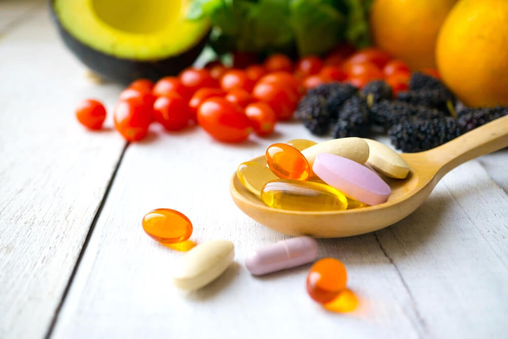 suplementos vitamínicos vitaminas minerales nutrientes