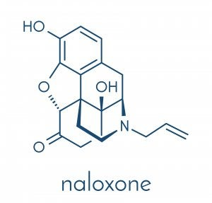 Structure chimique de la naloxone.