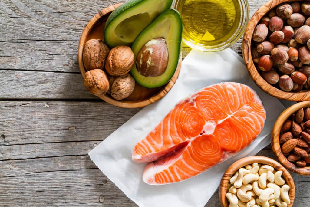 Alimentos ricos en grasas saludables.