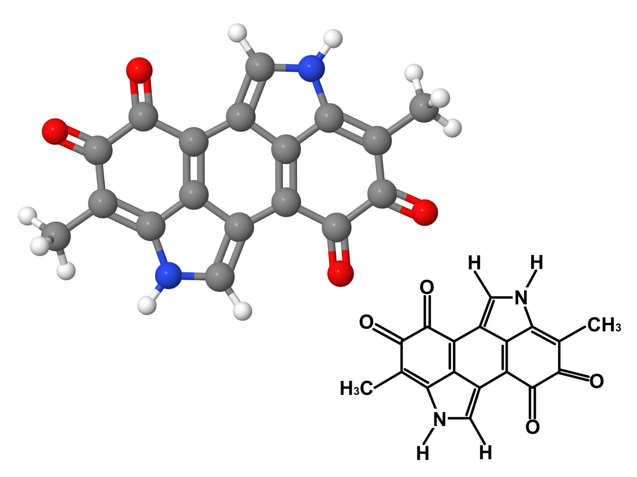Fórmula química de la melanina.