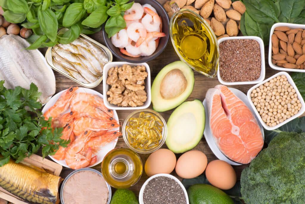 Alimentos con ácidos grasos.