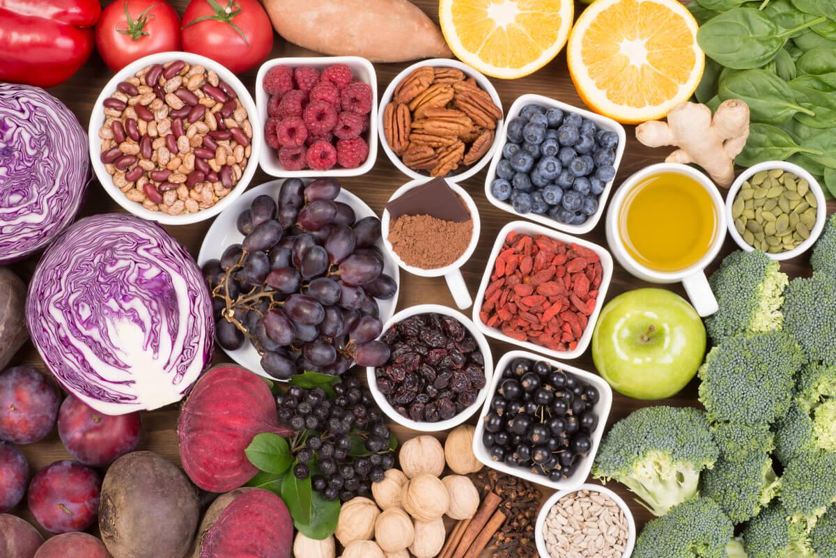 Alimentos con antioxidantes.