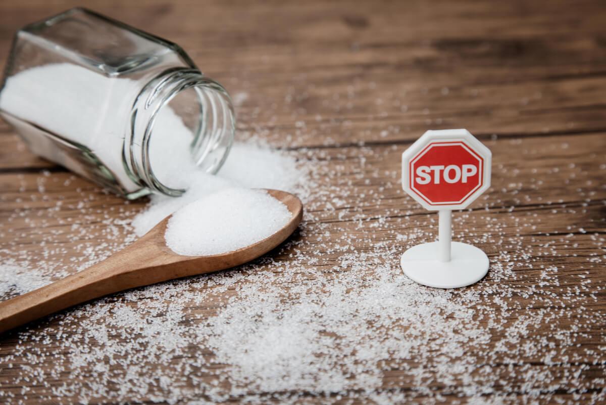 Azúcar blanca.