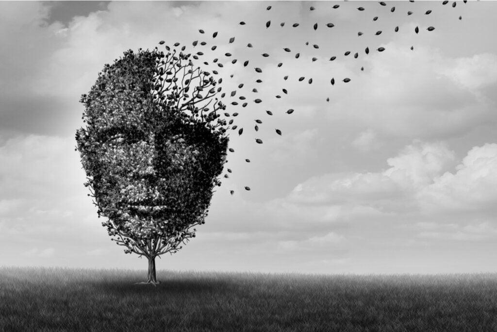 Concepto de pérdida de la memoria.