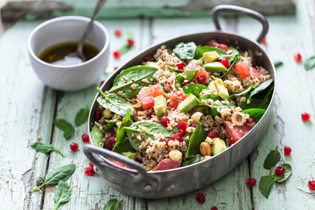 Ensalada con quinoa.