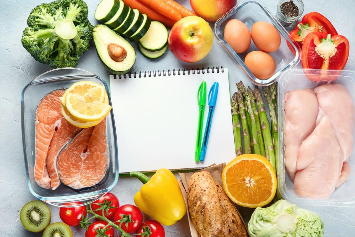 Alimentos de una dieta hipocalórica.