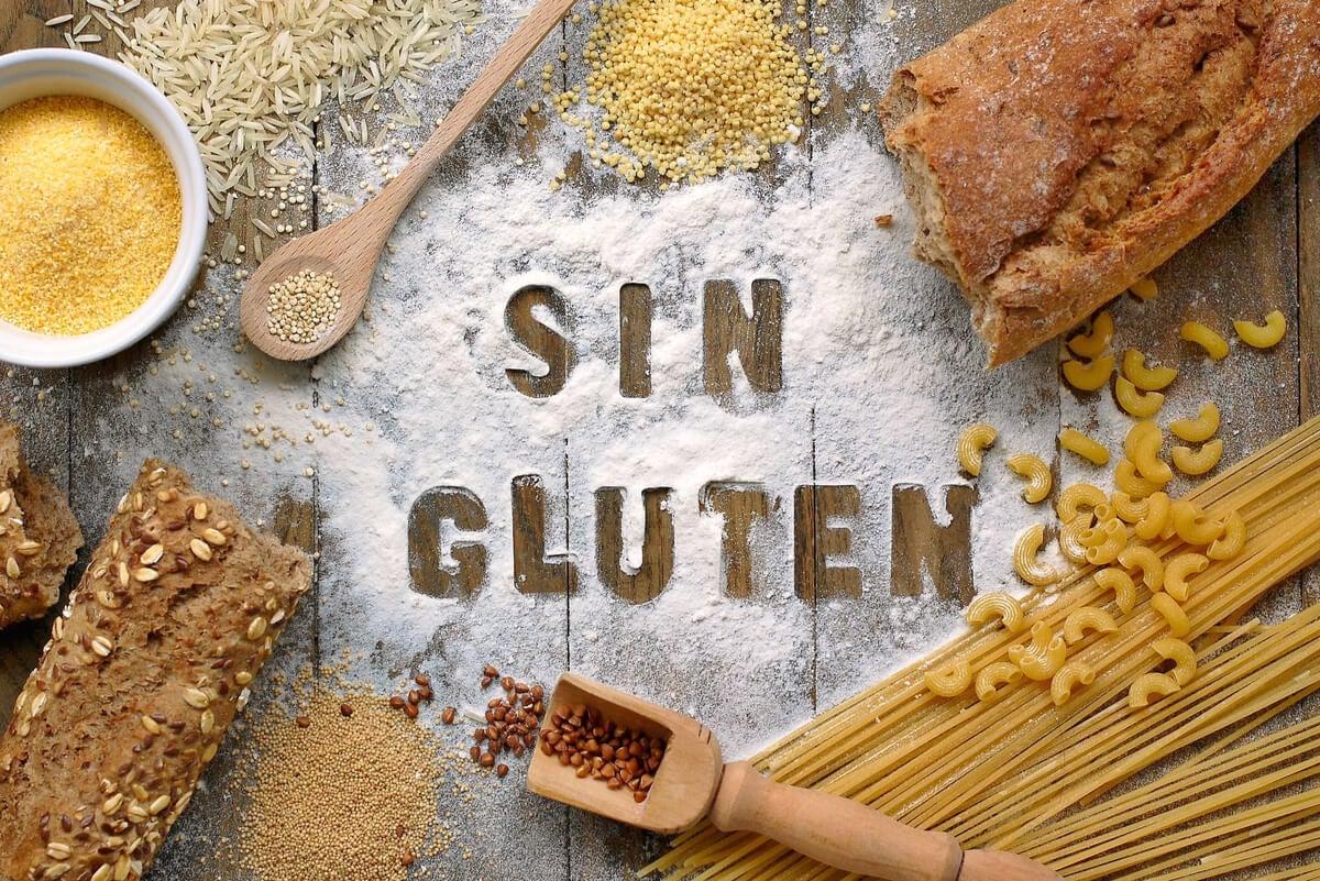Alimentos sin gluten para la celiaquía.