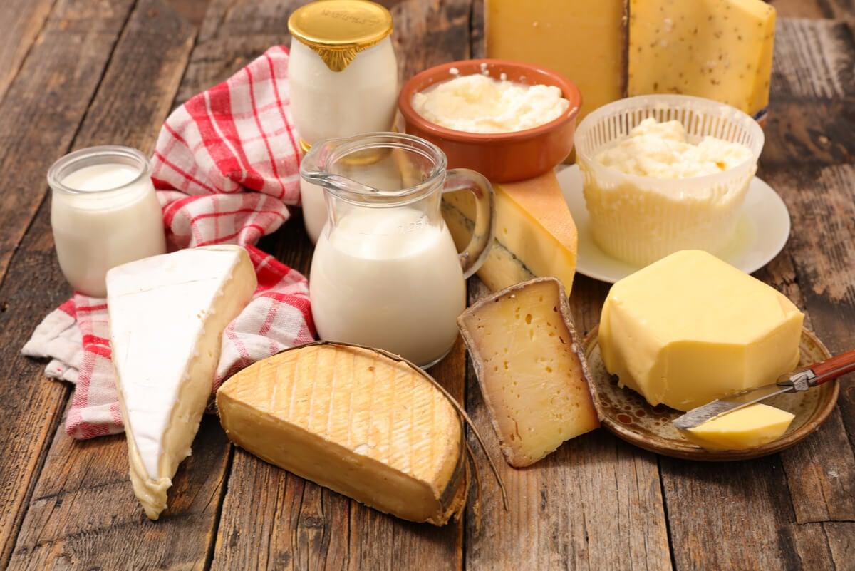 Lácteos con proteínas.