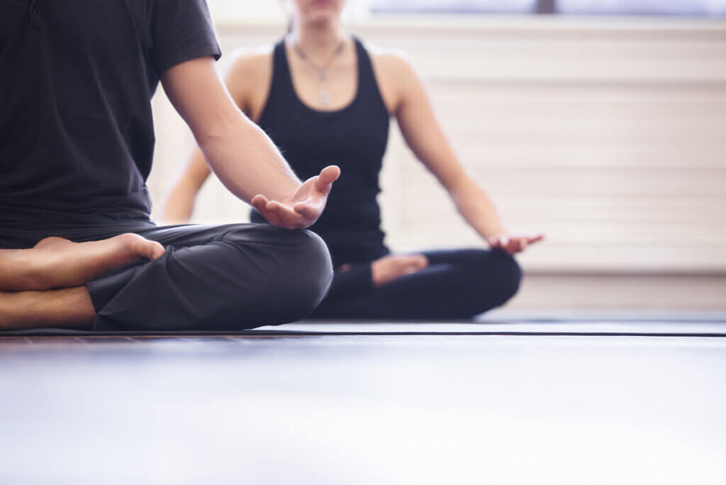Meditación en grupo.