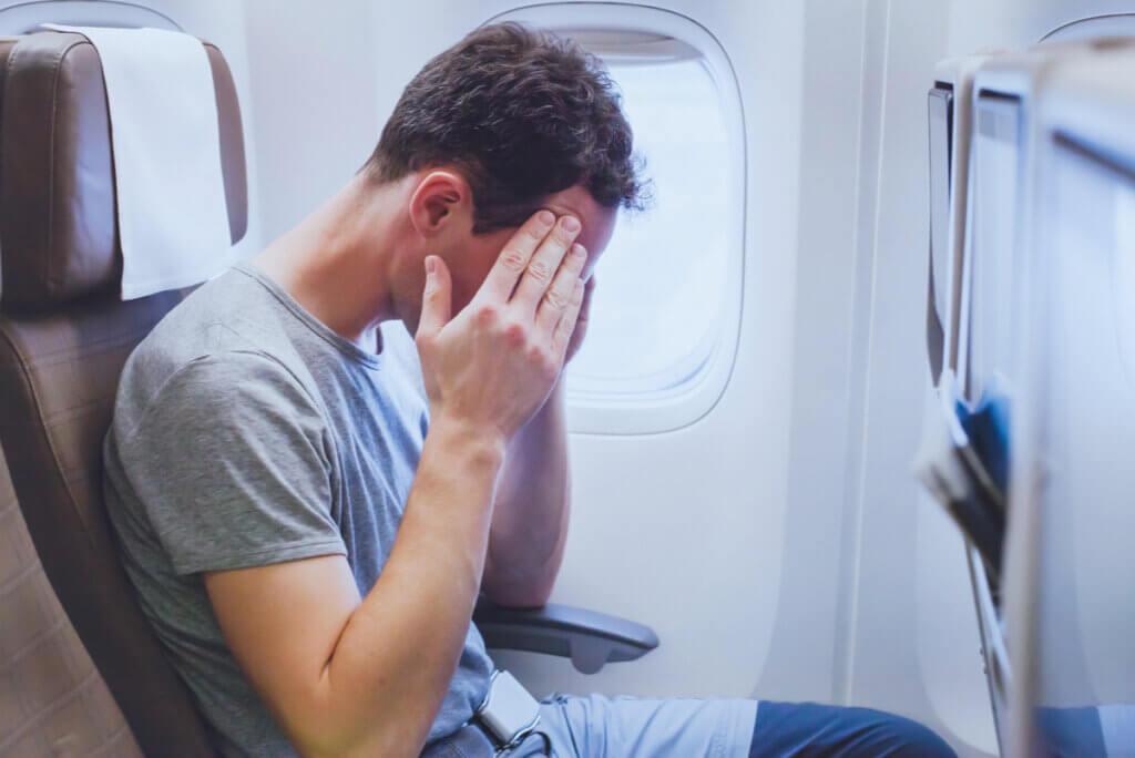 Miedo a volar en un avión.