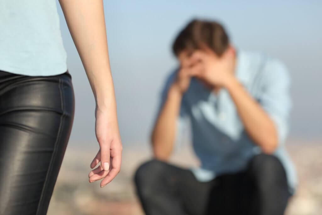 Ruptura emocional de una pareja.