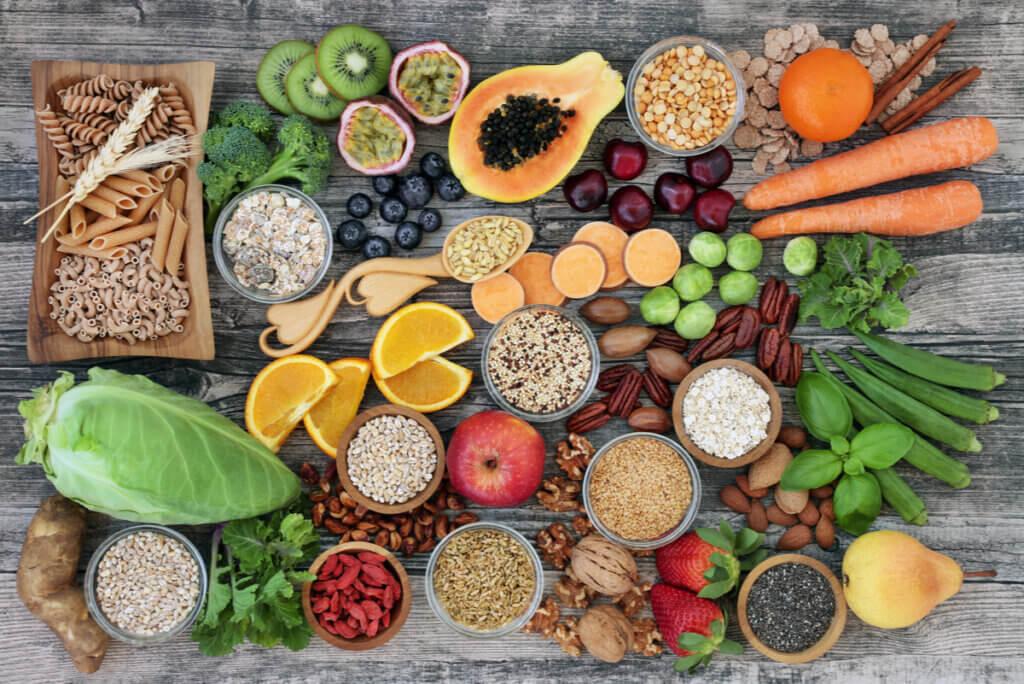Vegetales con antioxidantes.
