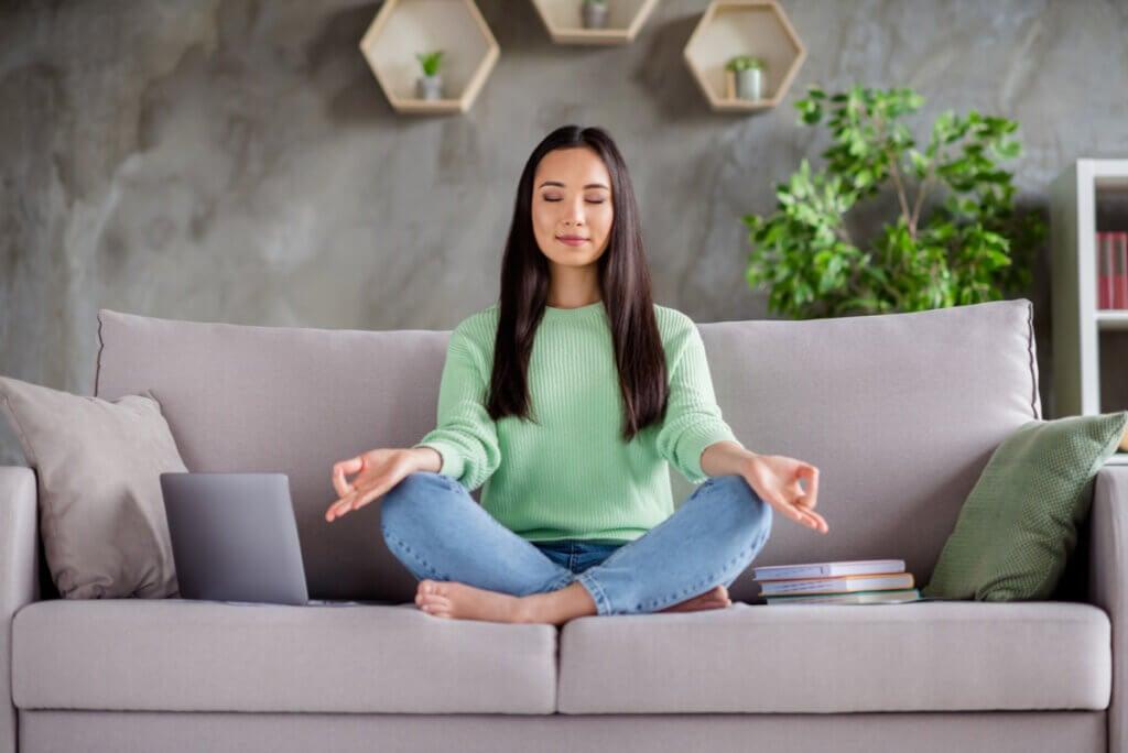 Yoga to prevent migraine.
