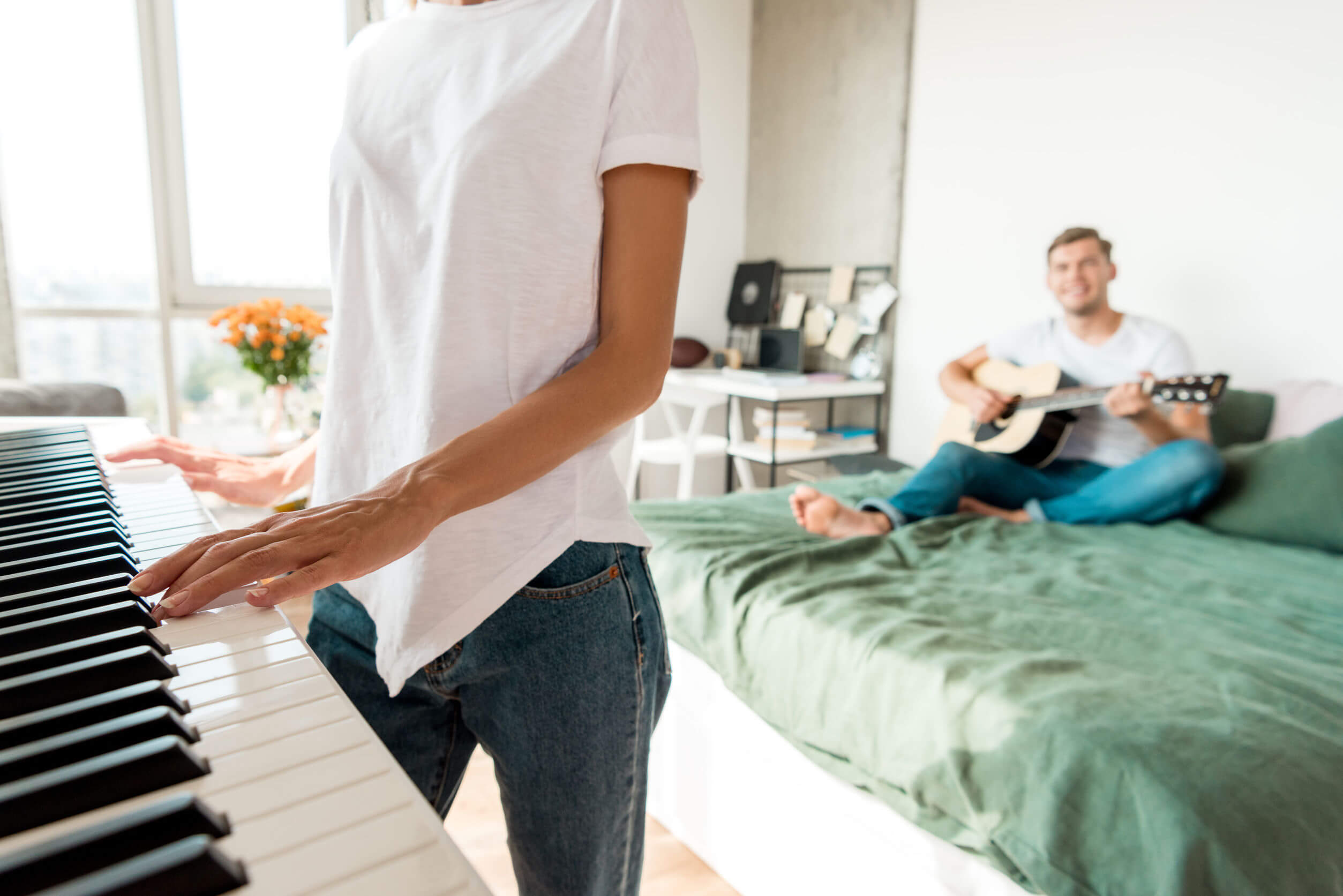Algunos alcanzan el estado de flow tocando instrumentos.