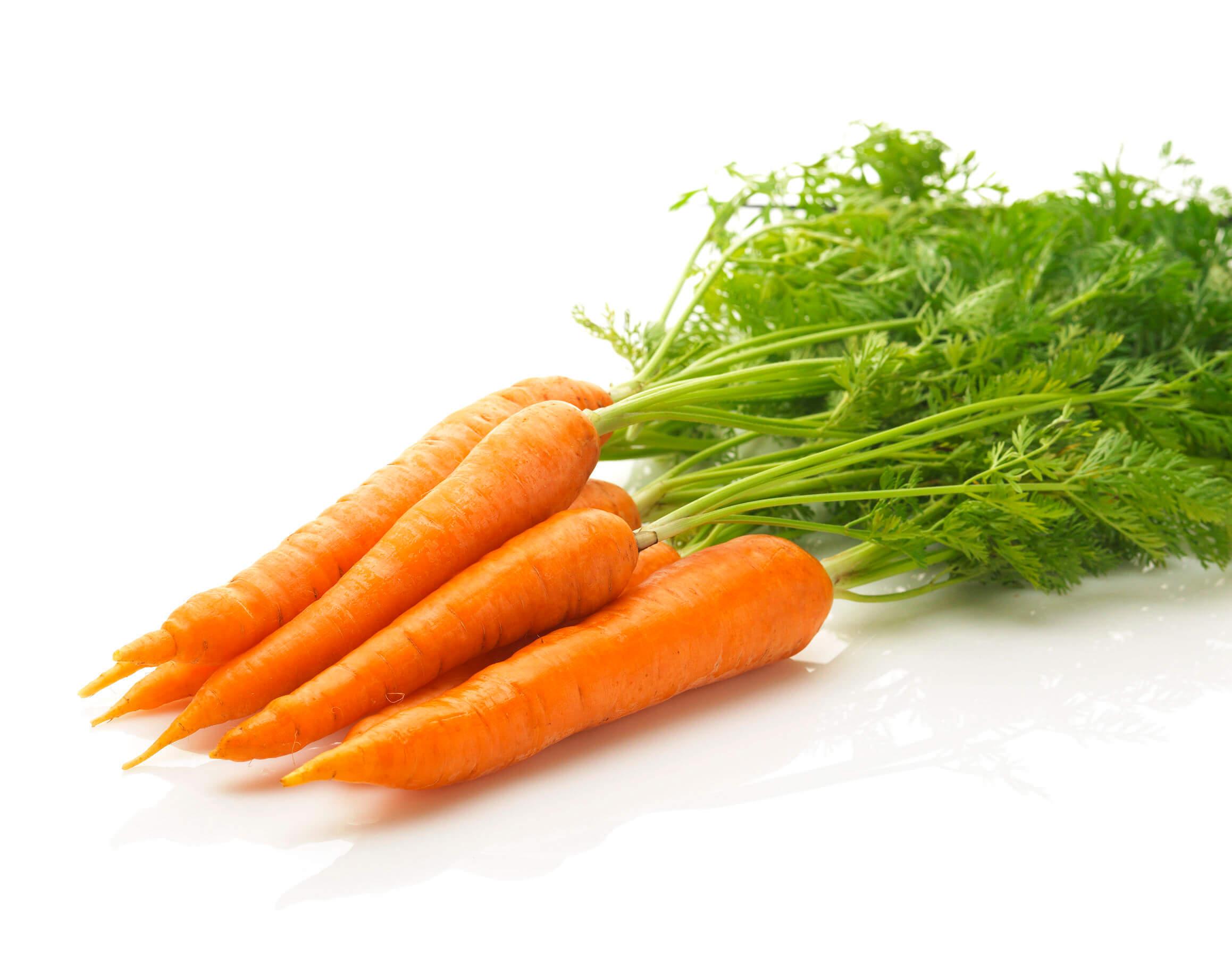 Le carote sono un'ottima fonte di beta caroteni