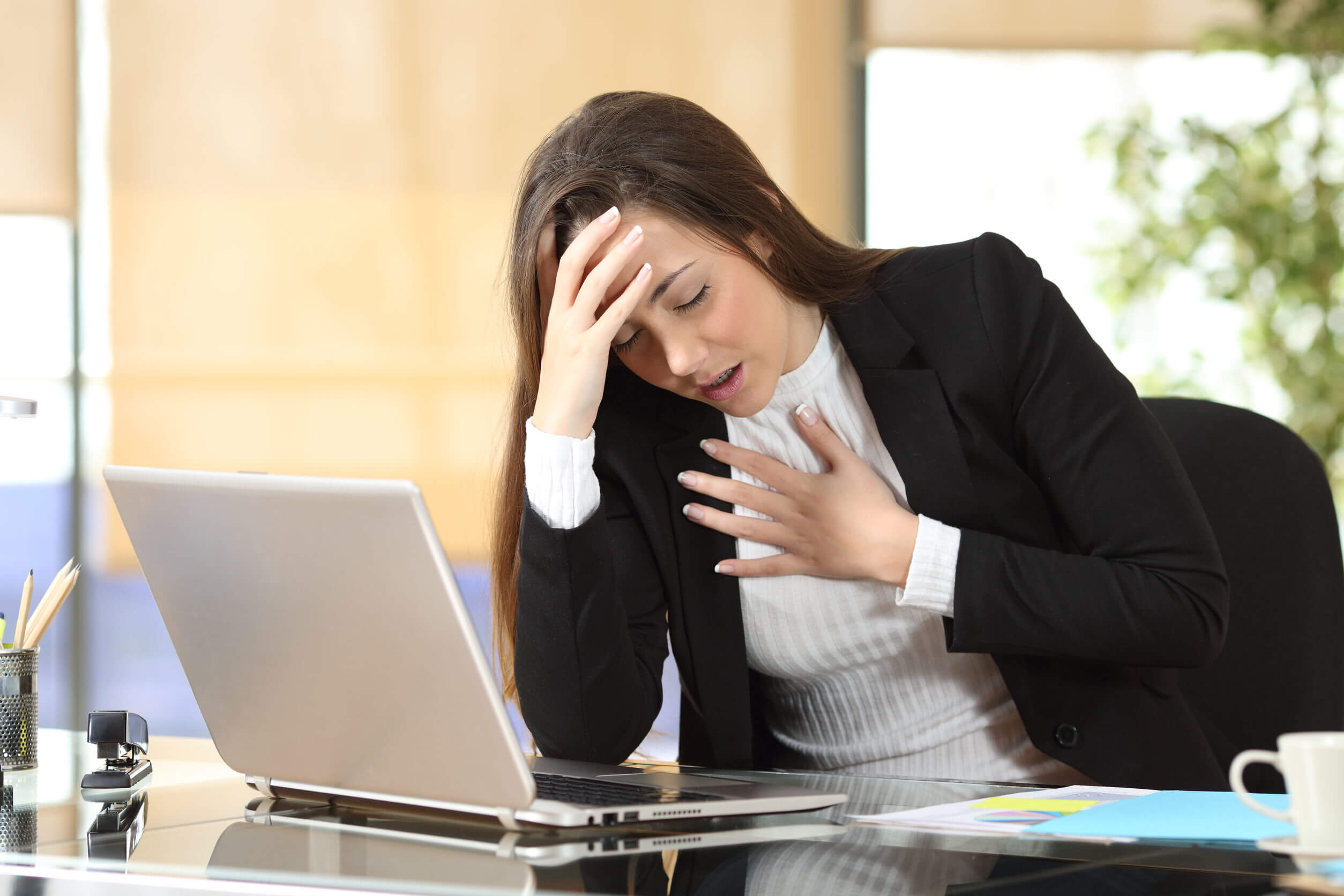 Chest tightness is one of the main symptoms of panic attacks.