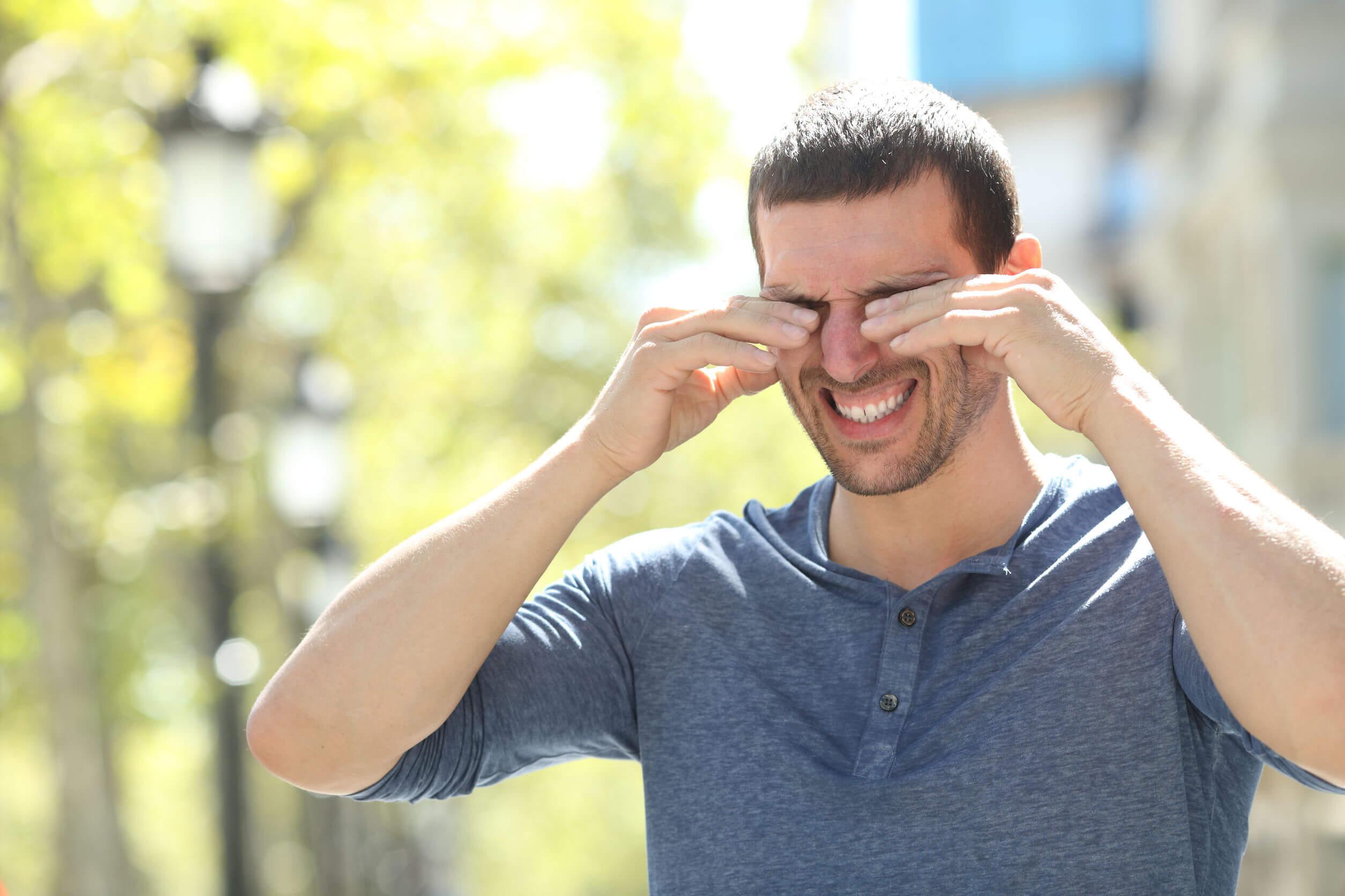 Algunos tipos de lágrimas se relacionan con la irritación.