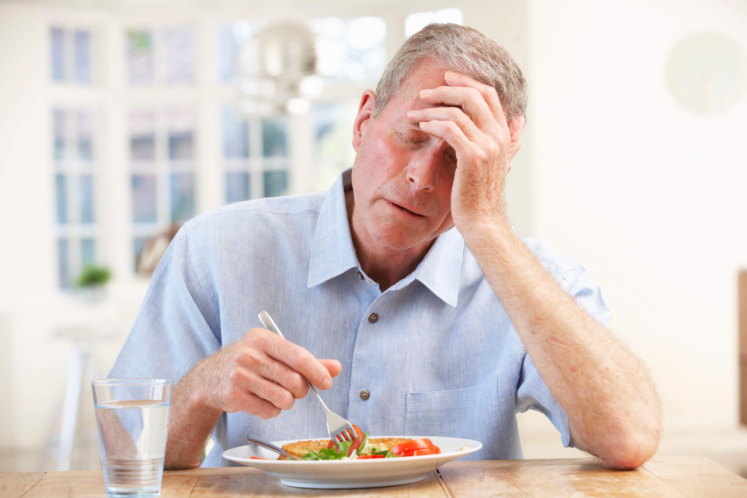 El apetito puede perderse con la edad.