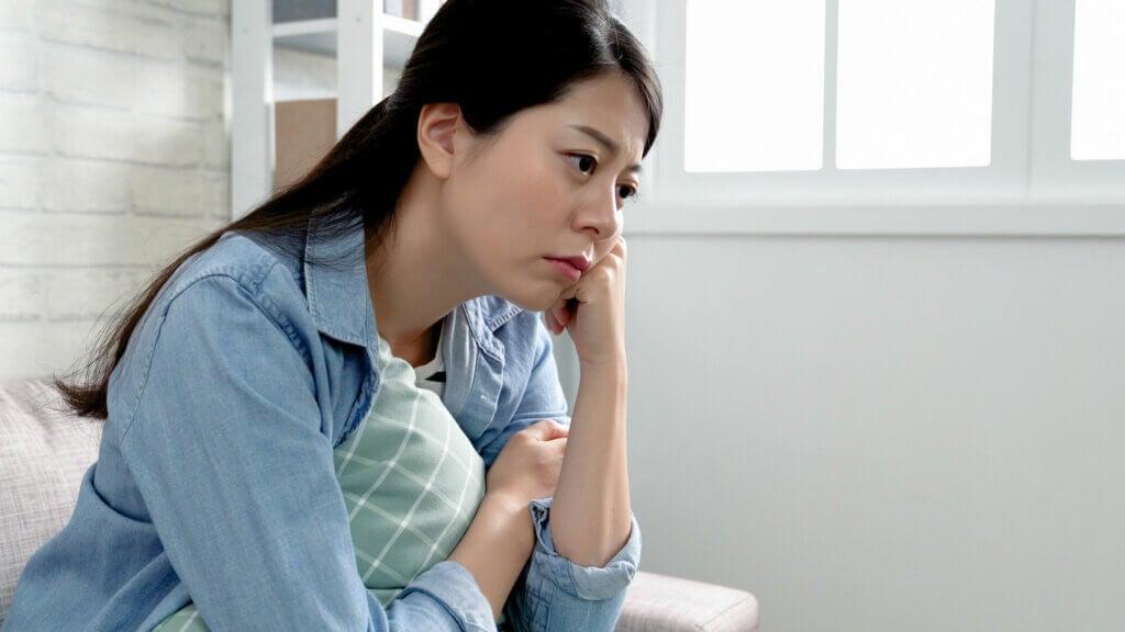 Depresión en una mujer.