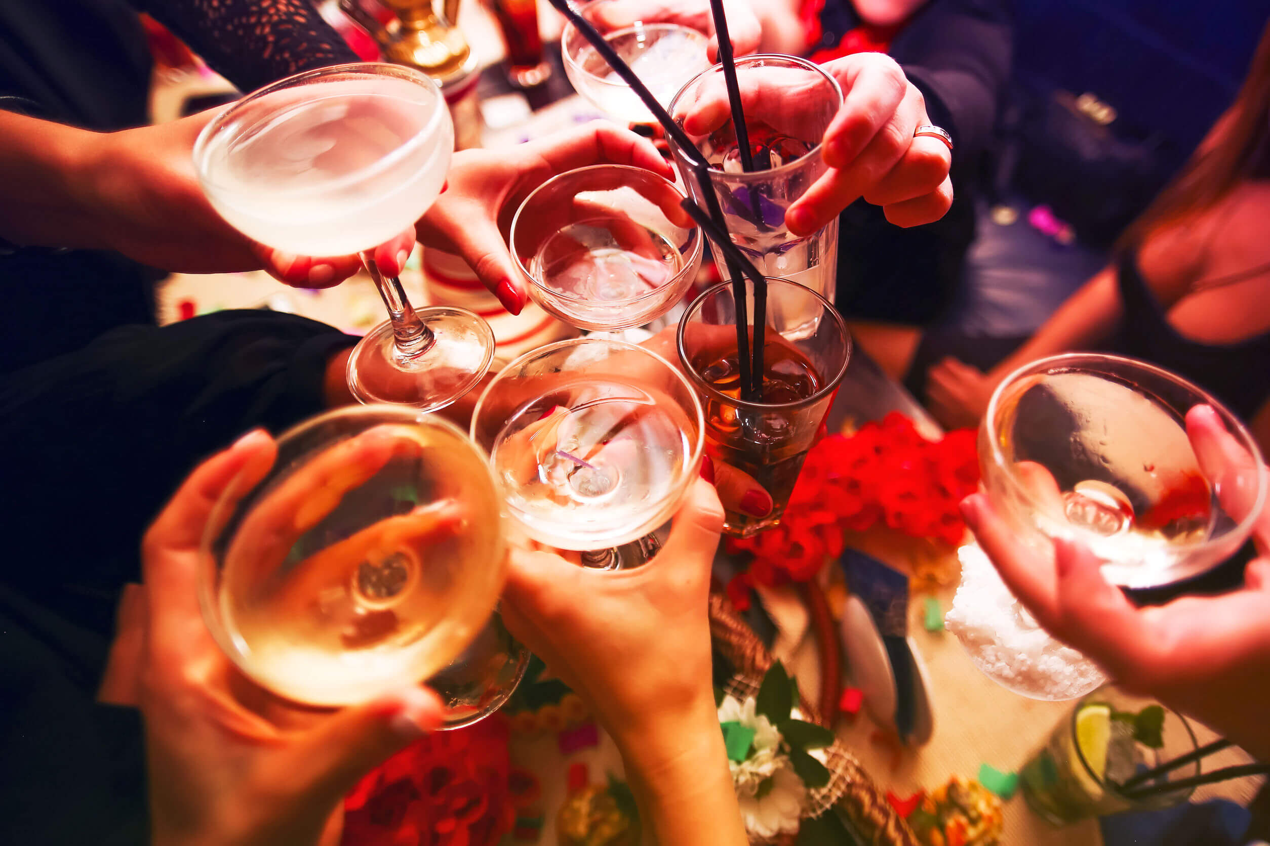 Winter affects diet due to alcohol consumption.