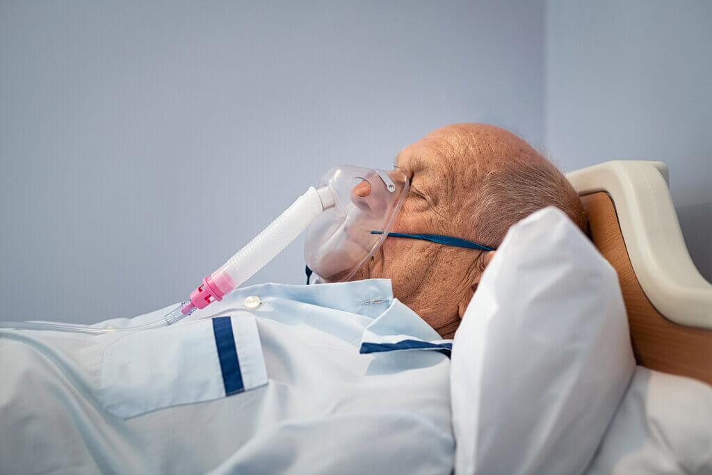 Oxygen mask.